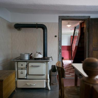 Innenaufnahme der Stube im Erdgeschoss im Haus aus Breitenbach