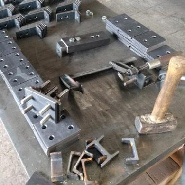 Teile des Stahlgerüstes