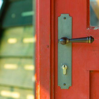 Tür der Kappenwindmühle aus Borsfleth