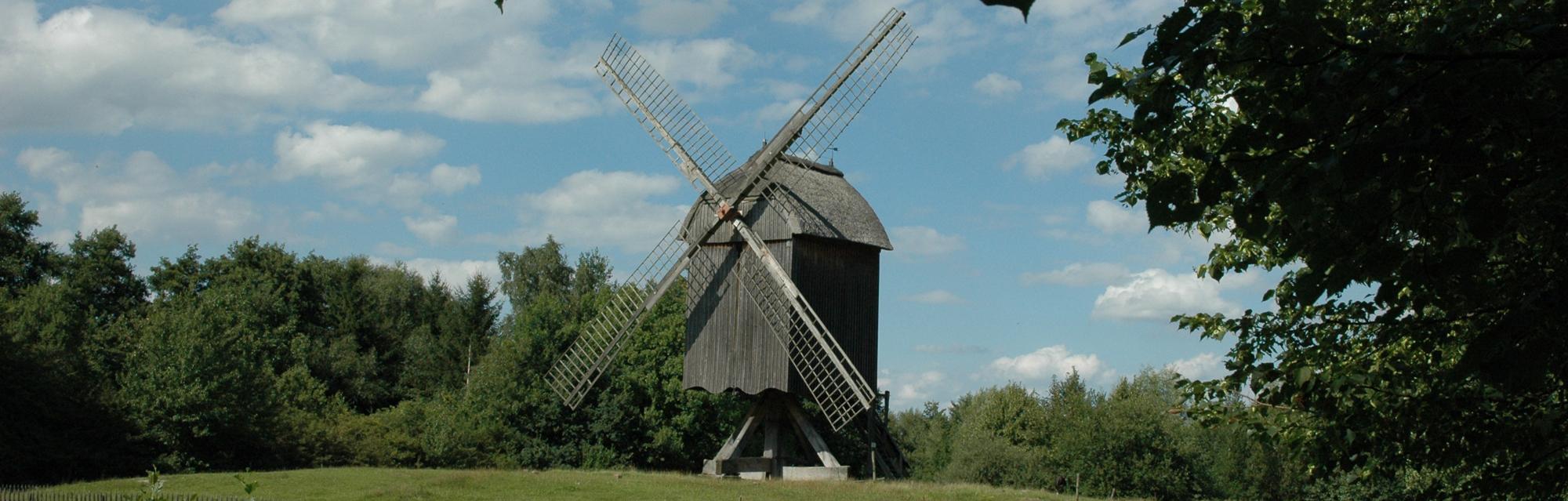 Außenansicht Bockwindmühle von der Papenhorst