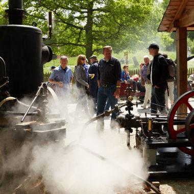 Dampfmaschine im Einsatz