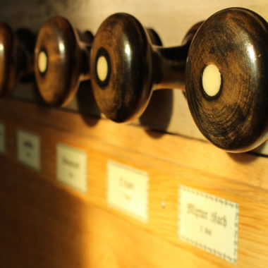 Detailaufnahmen einer Orgel