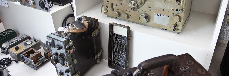 """Bilick in die Ausstellung """"Kommunikation im Wandel der Zeit"""""""