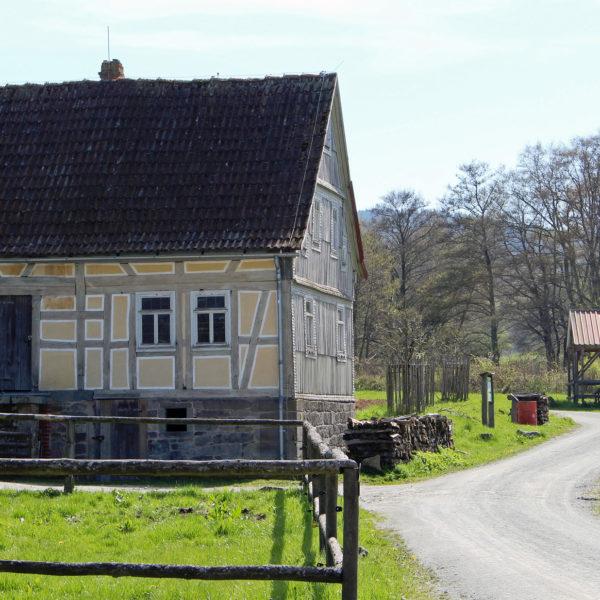 Die Hofanlage aus Mittelkalbach in der Baugruppe Osthessen