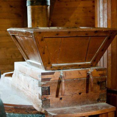 Innenaufnahme Mühle: Mahlwerk