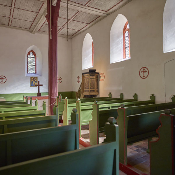 Innenaufnahme der Kapelle aus Lollar