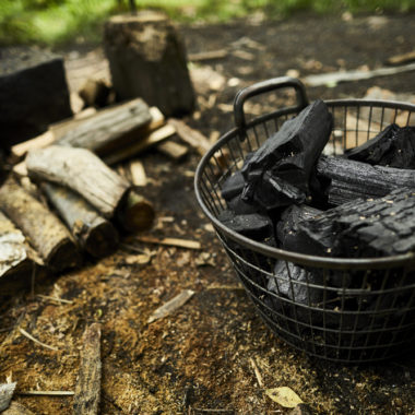 Building the charcoal kiln 20 April to 5 May