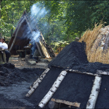 Building the charcoal kiln 31 August to 15 September