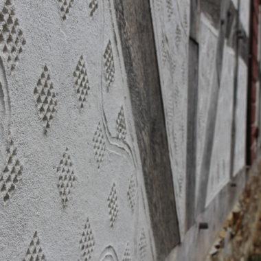 Detail-Aufnahme Kratzputz