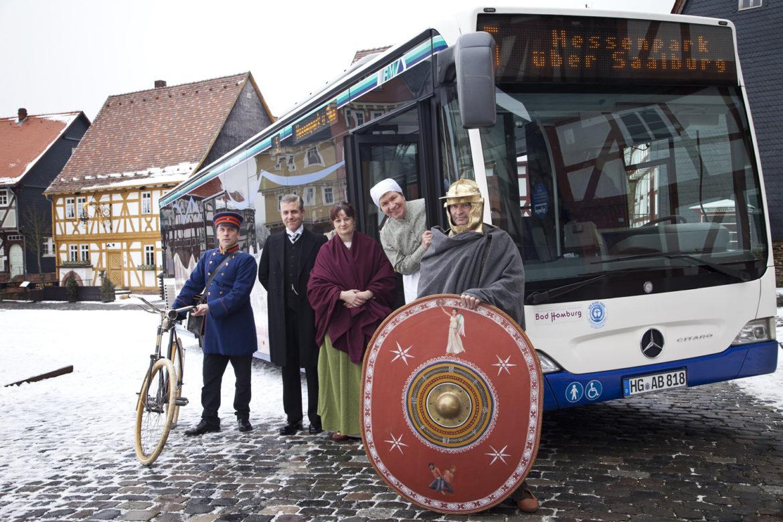 Der Kulturbus auf dem Marktplatz