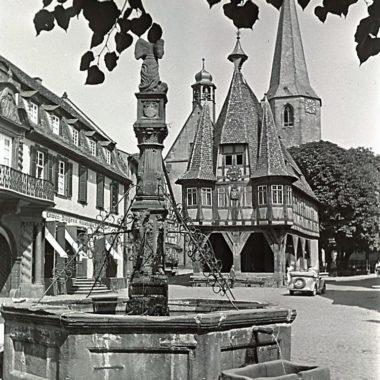 Marktbrunnen in Michelstadt, Odenwald.