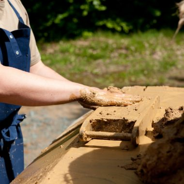 Lehmsteinherstellung
