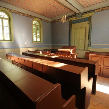 Innenaufnahme der Synagoge aus Nentershausen