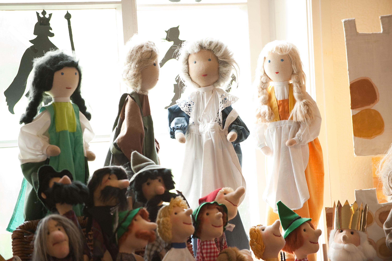 Puppen in der Puppentheater-Werkstatt