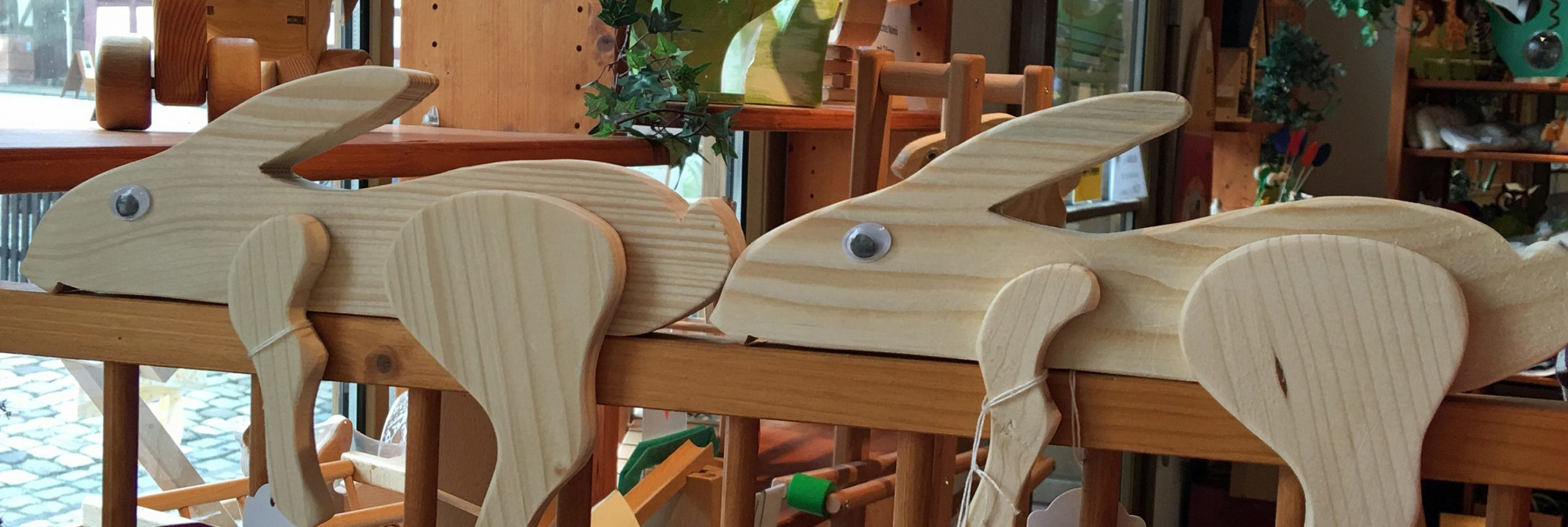 Nahaufnahme von Hasen aus Holz