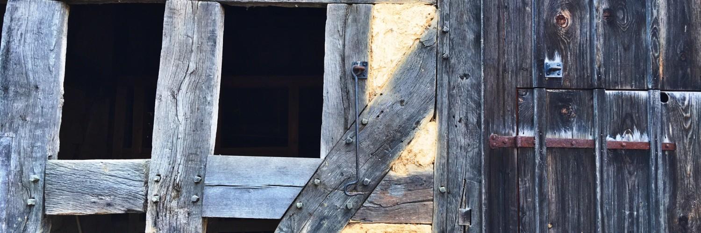 Detailaufnahme der Scheune aus Mengerskirchen