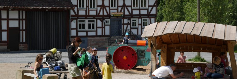 Der Spielplatz in der Baugruppe Nordhessen