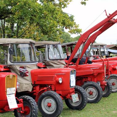 Rote Guldner Traktoren beim Treckertreff