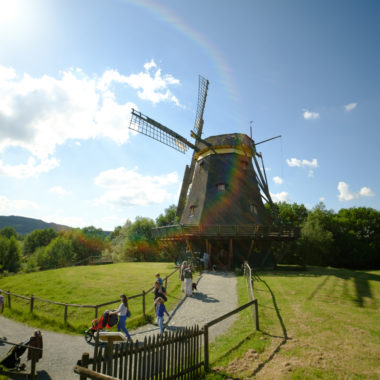Windmühle aus Borsfleht im Sonnenlicht