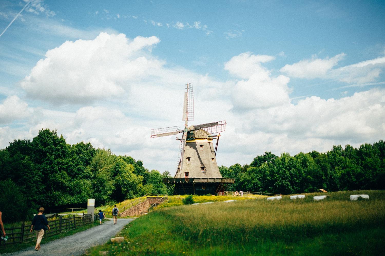 Windmühle aus Borsfleht im Sommer