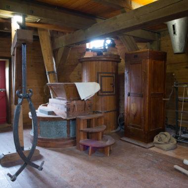 Innenaufnahme Windmühle aus Borsfleth